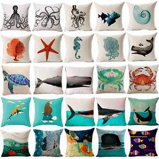 """18""""Sea animals Cotton Linen Pillow Case Sofa Cushion Cover Fashion Home Decor"""