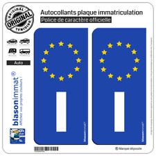 2 Stickers autocollant plaque immatriculation I Italie - Identifiant Européen