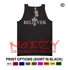Believer Cross #2 Christian TANK TOP Jesus Religious Black Shirt Rock Metal Fish