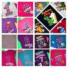 ~NEW~ BIRTHDAY Girls Boys Shirts 1st 2nd 3rd 4th 5th 6th 7th 8th Years Gift!
