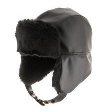 Street Trooper Ushanka Aviator Pilot Faux Leather Ski Cap Trapper Hat
