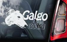 motif Galgo à Bord - vitre voiture autocollant - Espagnol Lévrier ENSEIGNE - V01