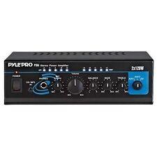 Pyle pro PTA4 Mini 2x120 Watt Stereo Power Amplifier w/ AUX/CD Input Amp New