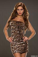 Party Club Wear Stylish Cocktail Dress UK size 8-10 Animal Print
