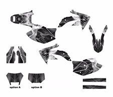 2005 - 2015 CRF450X 450X Custom Graphics Sticker kit #6666 Metal Skull