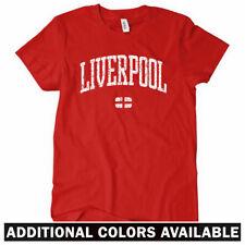 LIVERPOOL Women's T-shirt - England Merseyside UK Scouser Reds FC - S-2XL