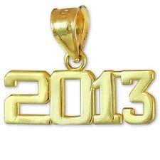 Gold Class of 2013 Graduation Charm Pendant