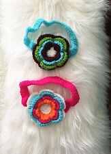NEW Baby Girl Crochet Large Flower Knit Headband 0-12 months