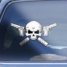 M1911 Pistol Skull Decal - 1911 colt .45 acp semi auto pistol crossbones sticker