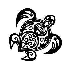 """6"""" TRIBAL TORTUE Autocollant Vinyle Autocollant Voiture Fenêtre Ordinateur Portable Tropical Ocean Hawaiian"""