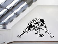 Wall Vinyl Decal Fight  Wrestling Twin Combat Sports Interior Decor z4584