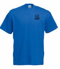Classique Union Soviétique CCCP insigne Graphique Haute Qualité 100% Coton T Shirt