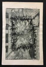 Kees Okx, Magisches Viereck, Radierung, 1970, handsigniert, datiert und betitelt