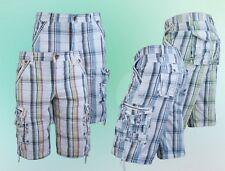 Herren Shorts Bermudas Pants Kariert Grau Grün Blau Weiß Rot 32 34 36 38 40