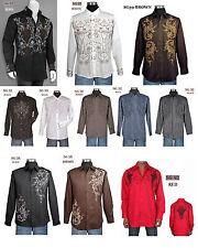 100%Cotton Men's Casual Fashion Shirt With Embroidered Design M L XL 2XL 3XL 4XL