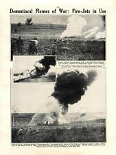 1915 Captured German Flamethrowers Inhuman Apparatus