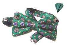 Papillon uomo e fazzoletto completo abbinato verde o solo farfallino made italy