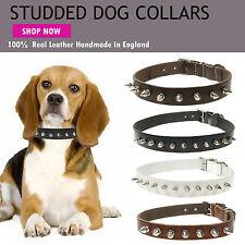 Metal Spike Dog Pet Studded Metal Dog Collar - Handmade In England Brand New