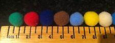 "X100 Craft Pompones Pompones mejor calidad, suave Pompons - 13 mm (0.5 "") - 20 Colores"