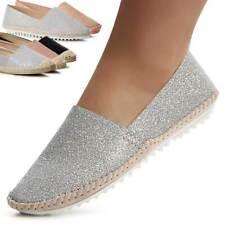 Mujer Alpargatas BRILLO Mocasines LOAFER Bailarina Zapatos
