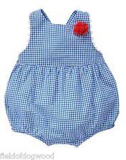 NWT Gymboree Gazebo Party Blue Plaid Romper 3 6 12 M Baby Girl Toddler