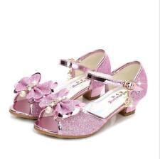 Neue Kinder Mädchen Sandalen High Heels Schuhe Prinzessin 26-38