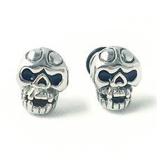 Super Cool Stainless Steel Punk Skull Biker Earrings