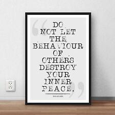 Dalai Lama Literary quote Art print gift poster - wall home decor