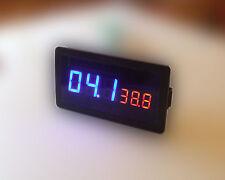 100V 10A DC Digital LED Amp Volt  Combo Meter With Shunt for HHO EV car Solar