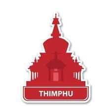 Thimphu Car Laptop Phone Vinyl Sticker  - SELECT SIZE