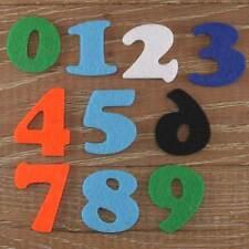Cooper Black Number Set 3mm Felt Numbers 0-9 10 Characters Sizes 5-12cm