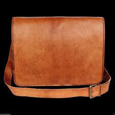 Large Vintage Leather Messenger bag College School Satchel Apple HP Laptop Bag