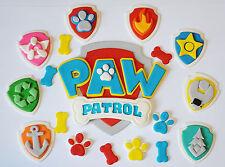 PAW PATROL LOGO EDIBLE CAKE TOPPER X 1 - PLUS 8 X BADGES & PAWS & BONES - WOW!