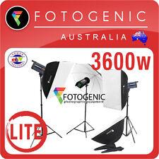 3600W Digital Pro Studio Photography Flash Strobe Kit LITE Umbrella Soft Box