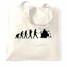 Musician Tote Bag Evolution Of A Drummer Drumkit Music Drums Band Logo