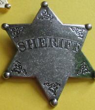 Sheriffstern Metall, Replikat, Metallfarben, versilbert, vergoldet