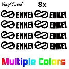(8x) Enkei Wheel Logo Die Cut Replacement Stickers GTC01 RPF1 Rim Decals Custom