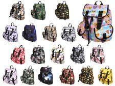 Stoff-rucksack mit Schnallen Print Vintage Stil Retro Freizeitrucksack Muster
