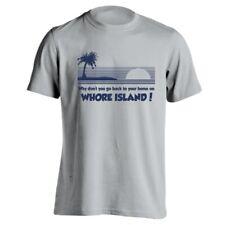 Whore Island Funny  Humor  Anchorman Gray Men's T-Shirt