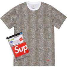 Supreme SS19 Hanes Tagless Tee (1 T-Shirt Only W/ Box Logo Sticker) SMOKE S - XL