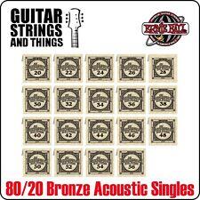 ERNIE Ball Earthwood 80/20 BRONZE chitarra acustica ferita Stringhe singolo