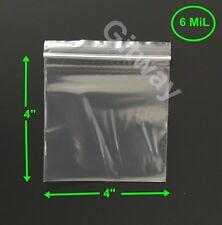 "4"" x 4"" Heavy Duty 6 MIL Resealable Ziplock Zip Lock Bag 4x4"" 6 ML Plastic Bags"