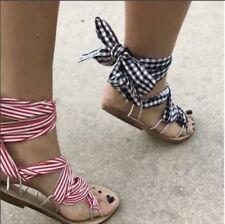 Cordones Sandalias Y Playa Con De Zara MujeresEbay Para RL54Aj