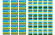 Rwanda Flag Stickers rectangular 21 or 65 per sheet