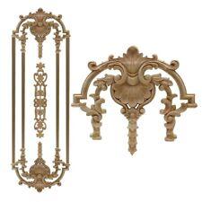Antique Decorative Wood Appliques Flower Furniture Decor Cabinet Door Figurine
