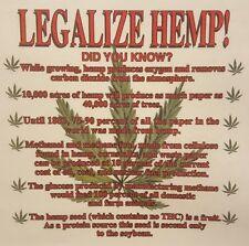 LEGALIZE HEMP! DID YOU KNOW? POT WEED MARIJUANA  HOODED SWEATSHIRT #MJ-4 HOODIE