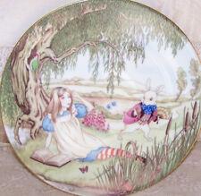 Alice in Wonderland Limoges Boyer White Rabbit Plate