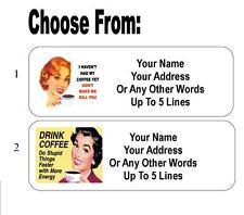 30 Coffee Retro Humor Personalized Address Labels