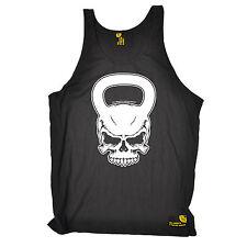 Kettlebell cráneo SWPS Unisex Chaleco Camiseta Regalo de Cumpleaños Workout Gym Entrenamiento