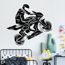 MotorBike Wall Sticker Dirtbike Motocross Wall Decal Boys Bedroom Decor mb14